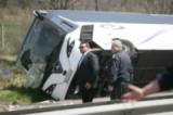 Автобус се преобърна на АМ