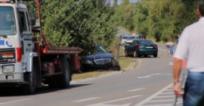 Кадри от мястото на катастрофата, в която пострада Цвета Караянчева