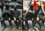 Изчезна част от статуята на Петко и Пенчо Славейкови