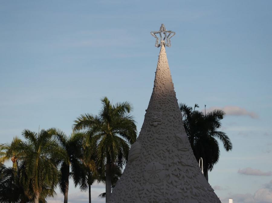 Коледното дърво в Уест палм бийч