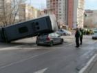Зрелищна катастрофа в ж.к.