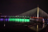 Белград грейна в цветовете на българския трибагреник
