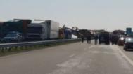 Верижна катастрофа с ТИР-ове край Харманли