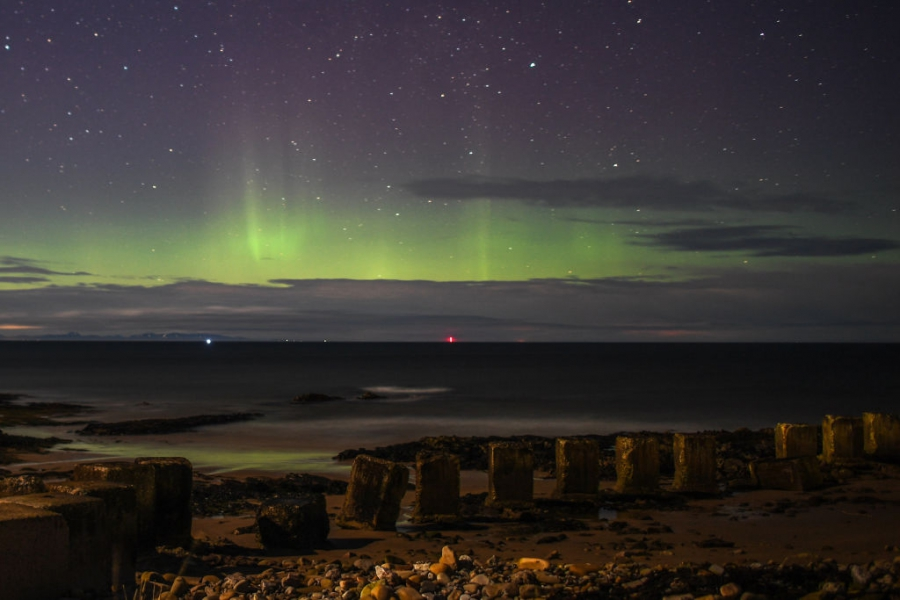 Северното сияние, наблюдавано от Шотландия