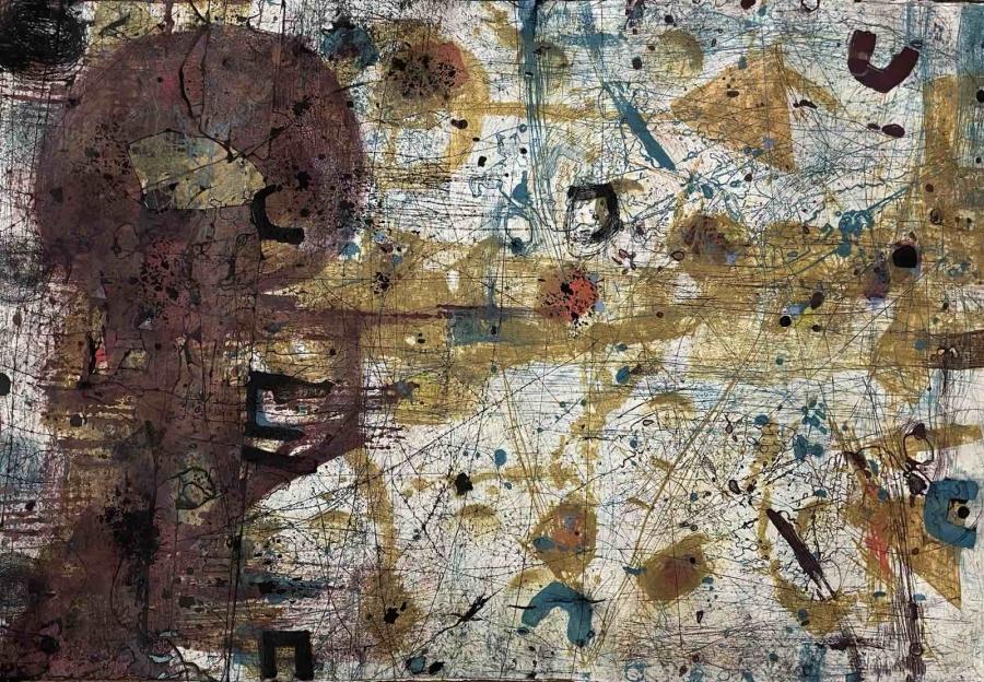 Вместо Автопортрет, първа самостоятелна изложба с графика на Людмил Георгиев