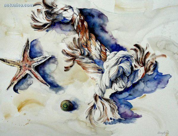 """photo of """"ADAJIO и ALLEGRO за AQUA COLOR""""  - изложба акварел на Кл. Манчева и Ив. Додов"""