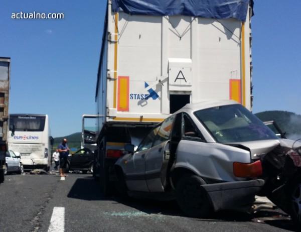 photo of Верижна катастрофа на Околовръстния път в столицата
