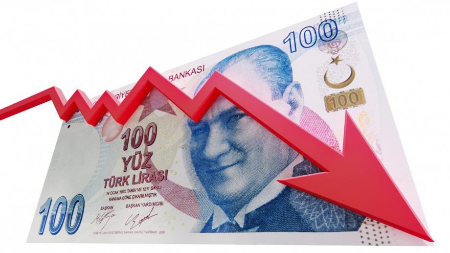 Турската лира падна със 17% спрямо долара днес след шокиращото