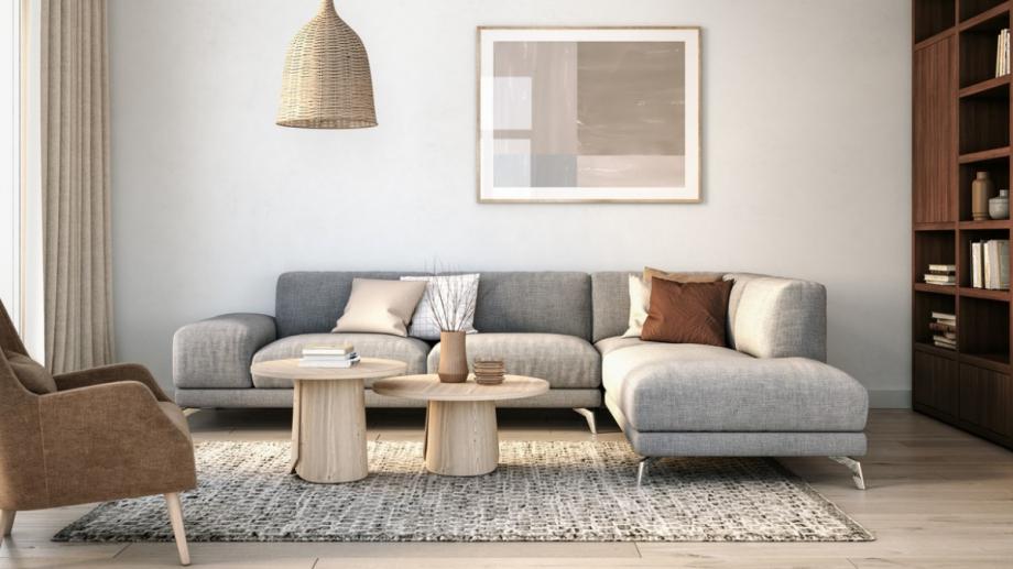 Поставена на ъгъл една мека мебел може да предложи не