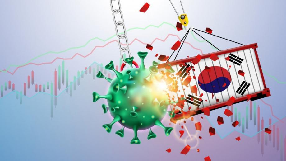 Икономиката на Южна Корея се сви за първи път от