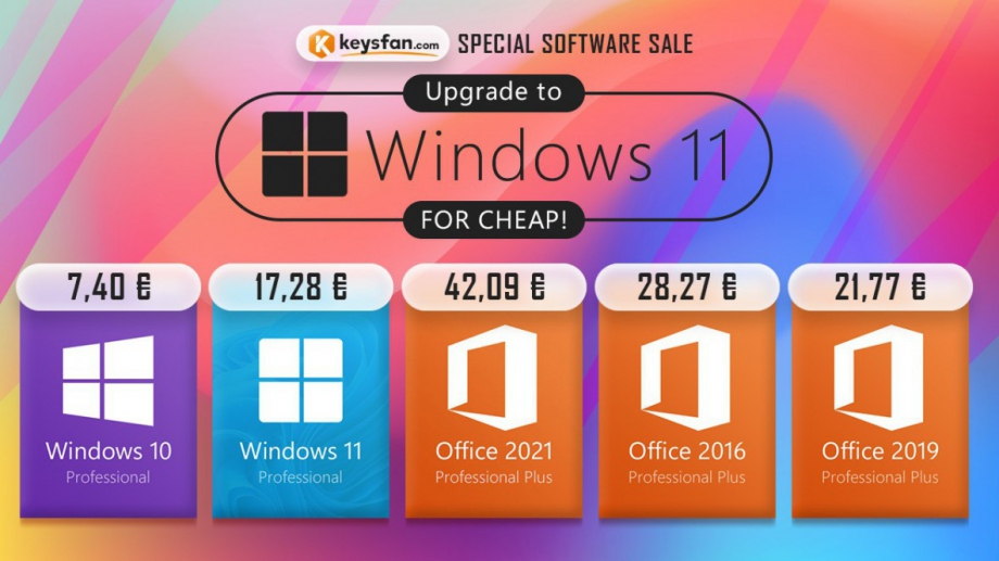 Атрактивни цени на софтуерни ключове от Keysfan Microsoft вече пусна